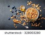 healthy breakfast. fresh... | Shutterstock . vector #328003280
