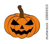 halloween pumpkin vector... | Shutterstock .eps vector #328003313