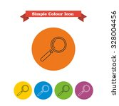 icon of magnifying glass   Shutterstock .eps vector #328004456