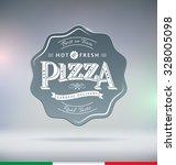 pizza label typography vector... | Shutterstock .eps vector #328005098