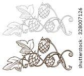 Stylish Hop Branch Hand Drawn...