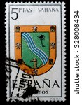 spain   circa 1965  a postage... | Shutterstock . vector #328008434