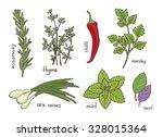 hand drawn vintage illustration ... | Shutterstock .eps vector #328015364
