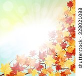 autumn  frame with falling ... | Shutterstock . vector #328021088