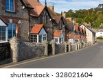 Row Of Cottages In Beer Devon...