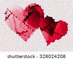 heart with colorful graphic... | Shutterstock . vector #328024208