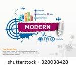 modern design concept and... | Shutterstock .eps vector #328038428