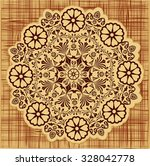 elegant floral pattern  ... | Shutterstock .eps vector #328042778
