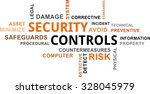 a word cloud of security... | Shutterstock .eps vector #328045979