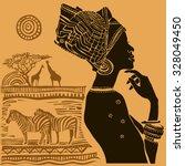 beautiful black woman.african...   Shutterstock .eps vector #328049450