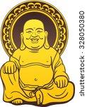 thai buddha golden statue.... | Shutterstock .eps vector #328050380