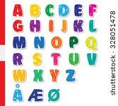 cute funny childish danish... | Shutterstock .eps vector #328051478
