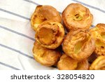 close up of yorkshire pudding... | Shutterstock . vector #328054820