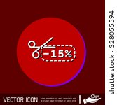 discount coupon with scissors... | Shutterstock .eps vector #328055594