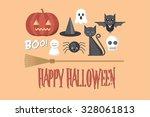 halloween vector illustration   Shutterstock .eps vector #328061813