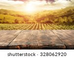 sunny day in vineyard and top  | Shutterstock . vector #328062920