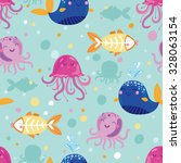 vector seamless pattern with... | Shutterstock .eps vector #328063154