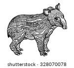 brazilian baby tapir ink vector ... | Shutterstock .eps vector #328070078