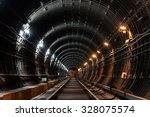 Straight Circular Subway Tunnel