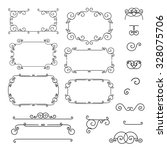 design elements. ornamental...   Shutterstock .eps vector #328075706
