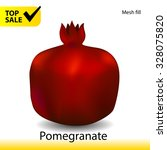 pomegranate vector illustration ... | Shutterstock .eps vector #328075820