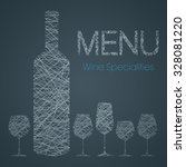 wine list with wine specialties ... | Shutterstock .eps vector #328081220