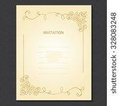 vector decorative frame....   Shutterstock .eps vector #328083248