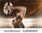 Rugby Player Throwing Ball...