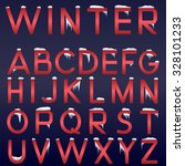 raster winter alphabet. red... | Shutterstock . vector #328101233