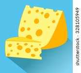 cheese with big wholes.  vector ... | Shutterstock .eps vector #328105949