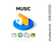 music icon  vector symbol in...