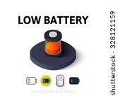 low battery icon  vector symbol ...