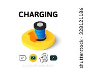 charging icon  vector symbol in ...