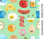 seamless pattern with cute... | Shutterstock .eps vector #328121720