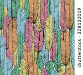 color feathers seamless...   Shutterstock . vector #328132019