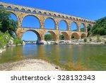 Ancient Aqueduct Of Pont Du...