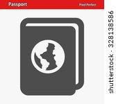 passport icon. professional ... | Shutterstock .eps vector #328138586