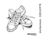 hand drawn funky gumshoes... | Shutterstock .eps vector #328142978