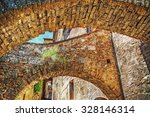 old brick arches in san...