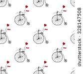 retro bicycle seamless pattern. ... | Shutterstock .eps vector #328147508