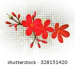 a tropical flower vector... | Shutterstock .eps vector #328151420
