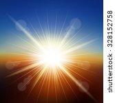sunset background vector... | Shutterstock .eps vector #328152758