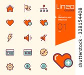 lineo colors   website and... | Shutterstock .eps vector #328154408