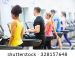 fit people walking on... | Shutterstock . vector #328157648