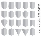 set of different shield shapes... | Shutterstock .eps vector #328158893