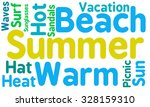 summer word cloud on a white...   Shutterstock .eps vector #328159310