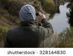 person taking a photo using... | Shutterstock . vector #328164830