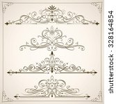 set of calligraphic frames and... | Shutterstock .eps vector #328164854