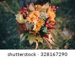 autumn bouquet of yellow and... | Shutterstock . vector #328167290