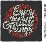 lettering poster with... | Shutterstock .eps vector #328168118